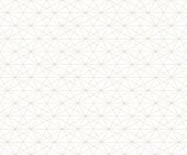 Subtle Geometric Lines Pattern. Vector Seamless Texture With Delicate Golden Grid, Lattice, Net, Thi poster