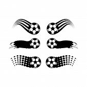 Soccer And Football Balls For Labels And Emblems. Football Emblem, Label Ball Soccer, Sport Football poster
