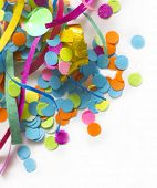 picture of confetti  - colorful confetti with the place for your text - JPG