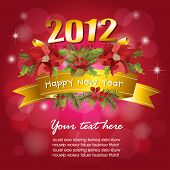 image of new years  - 2012 New Year celebration background - JPG