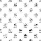 Faded Dandelion Pattern Seamless Vector Repeat Geometric For Any Web Design poster