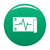 Electrocardiogram Icon. Simple Illustration Of Electrocardiogram Vector Icon For Any Design Green poster