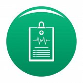 Cardiogram On Tablet Icon. Simple Illustration Of Cardiogram On Tablet Vector Icon For Any Design Gr poster