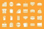 Fast Food, Sandwich Such As Shawarma, Salad Sandwich, Grilled Cheese Sandwich, Burger, Hotdog, Solid poster