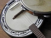 Close-up Of Two Brazilian Musical Instruments: Samba Banjo (strings) And Pandeiro (percussion). They poster