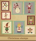 picture of rudolf  - Christmas post stamps - JPG