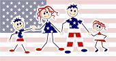 Patriotic Family poster