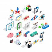 Hi Tech Icons Set. Isometric Set Of 25 Hi Tech Icons For Web Isolated On White Background poster