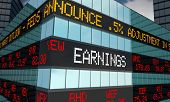 Earnings Stock Market Reporting Company Profits 3d Illustration poster