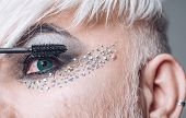 More Beautiful Lashes. Transgender Man Wear Eyeshadows And Eyebrow Makeup. Male Makeup Look. Transge poster