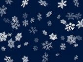 Snow Flakes Falling Macro Vector Graphics, Christmas Snowflakes Confetti Falling Scatter Banner. Win poster