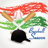 Baseball Posters With Baseball Ball. Baseball Competition Game Advertising. Sport Event Announcement poster