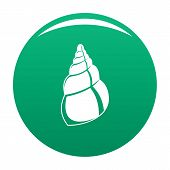 Wild Shell Icon. Simple Illustration Of Wild Shell Vector Icon For Any Design Green poster