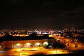 picture of parking lot  - This is a picture of the Simi Valley at night - JPG
