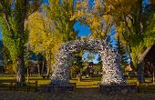 Gate At A City Park, Made Of Elk Antlers From The National Elk Refuge, Jackson, Wyoming