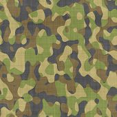 stock photo of camoflage  - close up of camouflage pattern material or clothing - JPG