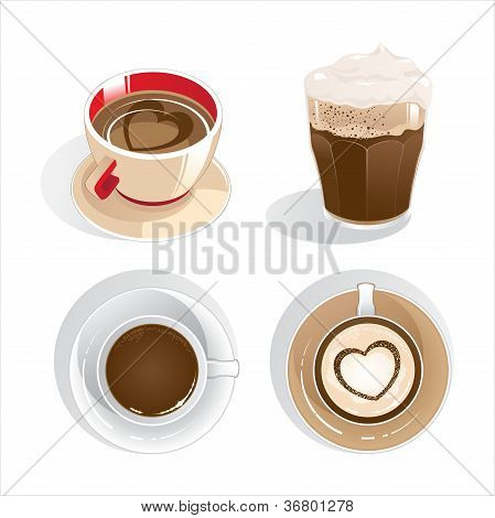 four cups of coffee