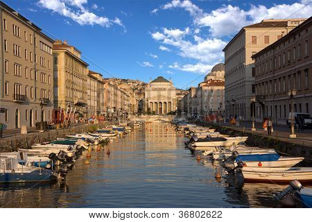 Grand Canal, Trieste, Italy