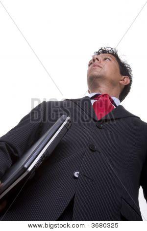Businessman Carrying A Laptop