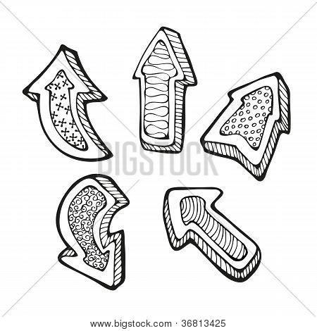 Arrows doodle set