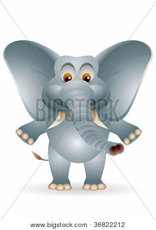 cute cartoon elephant isolated