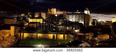 Monumental City Of C�ceres Of Night