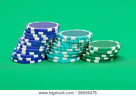 Pile Of Playing Chips