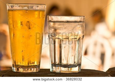 Cold Beer Glass Water