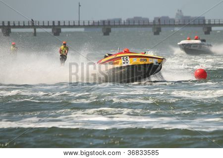 Brisbane, Australia - September 15 : Team Robertson Racing In Australian Water Ski Racing Championsh