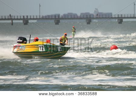 Brisbane, Australia - September 15 : Team Xxx Wild And Steven Robertson In Australian Water Ski Raci