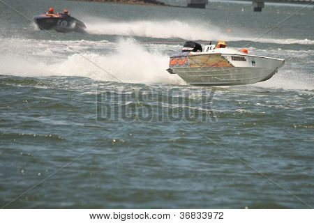 Brisbane, Australia - September 15 : Team Tuff N Ruff In Australian Water Ski Racing Championship On
