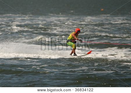 Brisbane, Australia - September 15 : Leanne Campbell In Australian Water Ski Racing Championship On