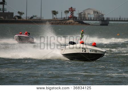 Brisbane, Australia - September 15 : Team Welch Lead Boat In Australian Water Ski Racing Championshi
