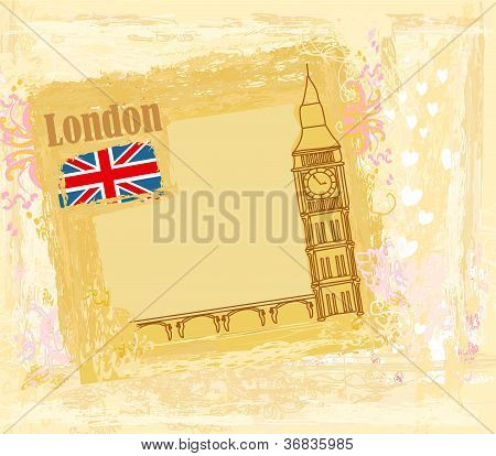 abstract grunge banner with London