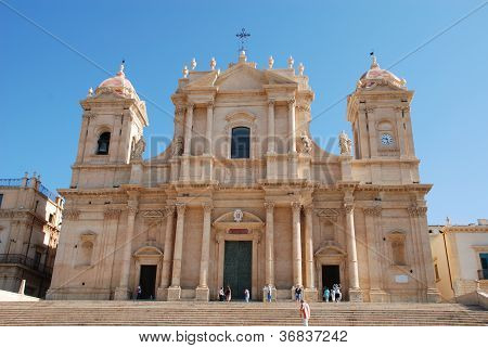 The baroque cathedral of Noto