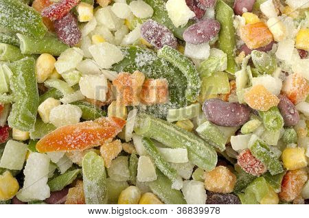 Background Of Different  Frozen Vegetables
