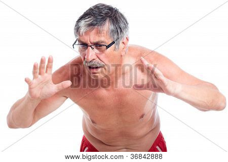 Surprised Senior Man