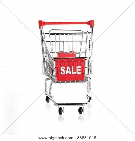shopping cart SALE isolated on white background