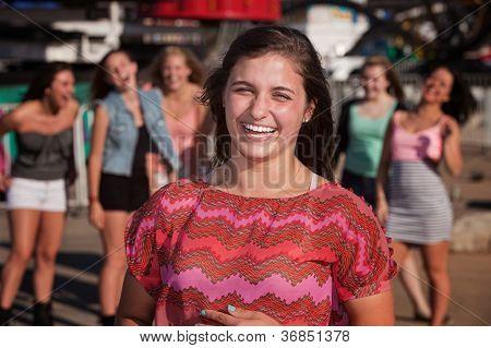 Giggling Teen Agirls