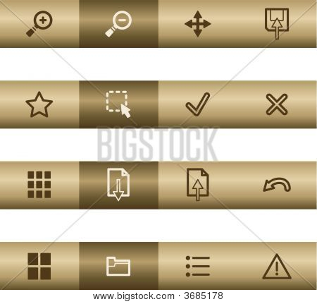 Image Web Viewer Icons On Bronze Bar