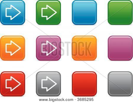 Botones de colores con el icono de flecha