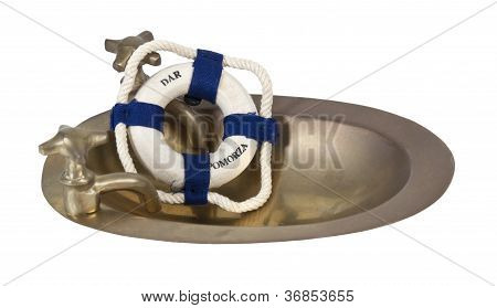 Brass Sink And Floatation Device