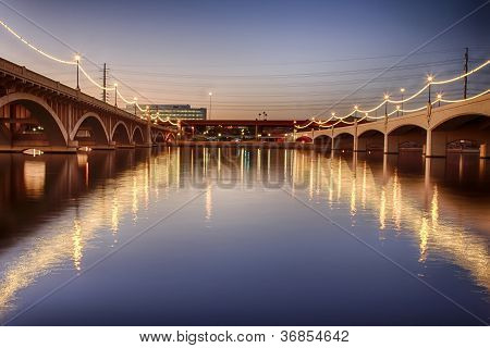 Mill Avenue Bridges In Phoenix