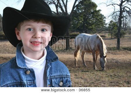 Adorable Four Year Old Cowboy