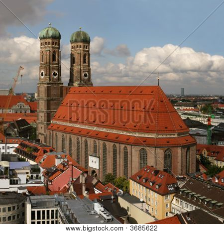 Famous Church Frauenkirche In Munich