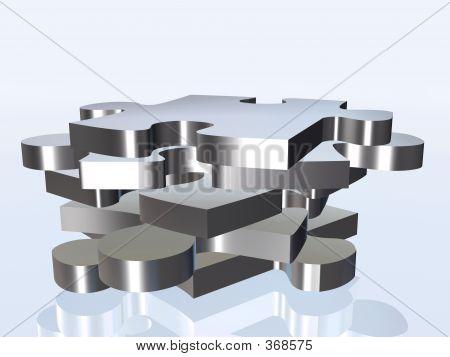 Metal Puzzle Pieces