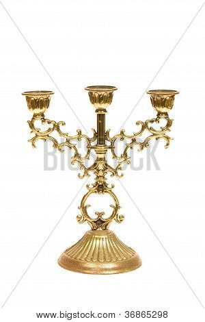 Candlestick On White.