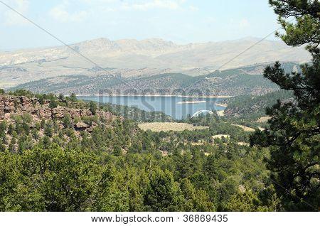 Flaming Gorge With Bridge