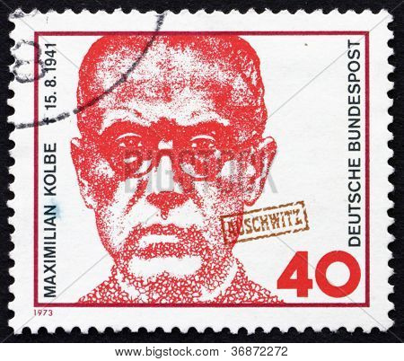 Postage stamp Germany 1973 Maximilian Kolbe, Polish Priest