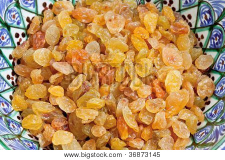 Sultana Raisins In Bowl Close Up